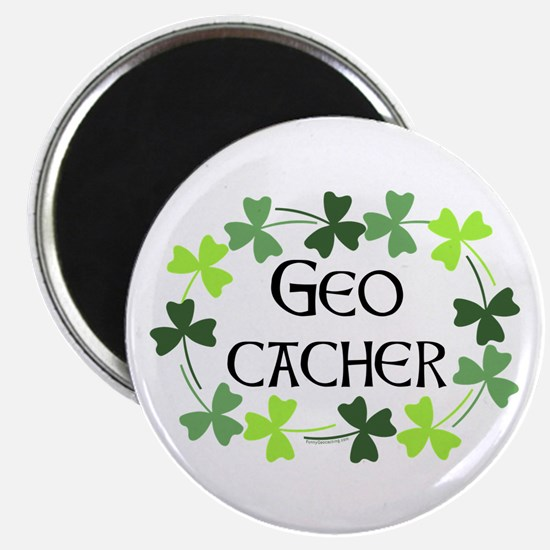 Geocacher Shamrock Oval Magnet