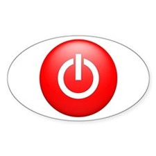 Red Power Button Decal