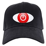 Red Power Button Black Cap