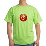 Red Power Button Green T-Shirt