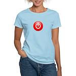 Red Power Button Women's Light T-Shirt