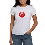 Red Power Button Women's T-Shirt