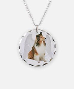 Sheltie Angel Necklace