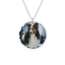 Winter Sheltie Necklace