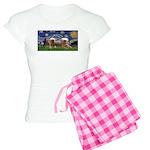 Starry / 2 Affenpinschers Women's Light Pajamas