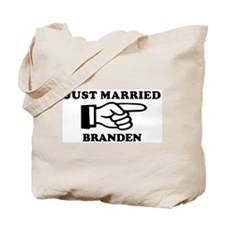 Just Married Branden Tote Bag