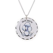White Standard Poodle IAAM Necklace