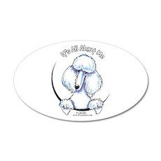 White Standard Poodle IAAM 22x14 Oval Wall Peel