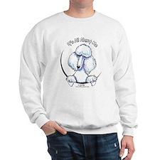 White Standard Poodle IAAM Sweatshirt