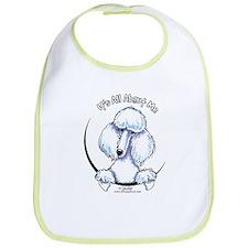 White Standard Poodle IAAM Bib