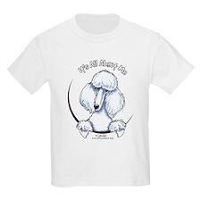 White Standard Poodle IAAM T-Shirt