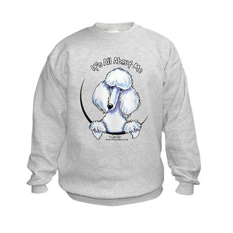 White Standard Poodle IAAM Kids Sweatshirt
