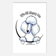 White Standard Poodle IAAM Postcards (Package of 8