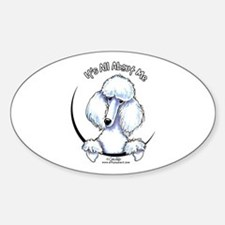 White Standard Poodle IAAM Decal