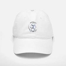 White Standard Poodle IAAM Baseball Baseball Cap
