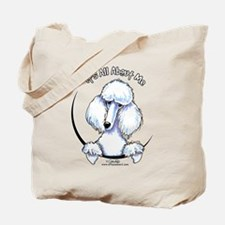 White Standard Poodle IAAM Tote Bag