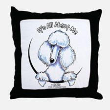 White Standard Poodle IAAM Throw Pillow
