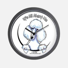 White Standard Poodle IAAM Wall Clock