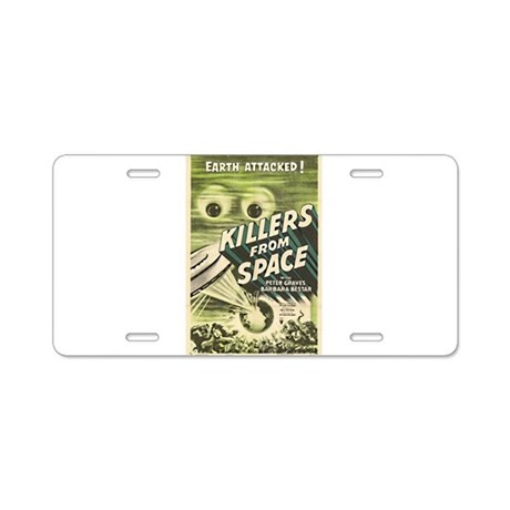 Killers From Space Aluminum License Plate