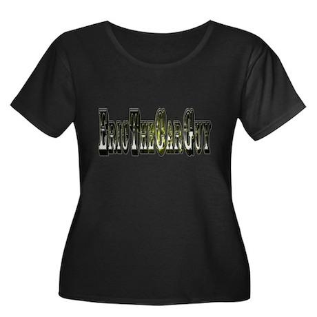 EricTheCarGuy Women's Plus Size Scoop Neck Dark T-
