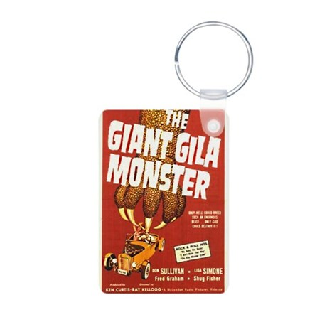 The Giant Gila Monster Aluminum Photo Keychain