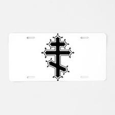 Fancy Orthodox Aluminum License Plate