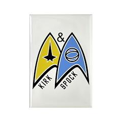 Kirk & Spock Rectangle Magnet (100 pack)