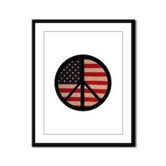 Peace w/ Flag of FREEDOM Framed Panel Print