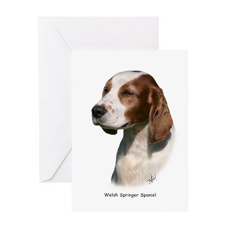 Welsh Springer Spaniel 9Y394D-046 Greeting Card