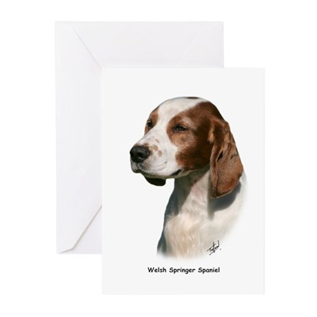 Welsh Springer Spaniel 9Y394D-046 Greeting Cards (