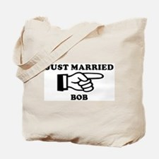 Just Married Bob Tote Bag