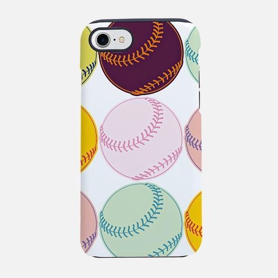 Watercolor Baseballs iPhone 7 Tough Case