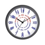 SERIES G:  Time Is An Illusion Wall Clock