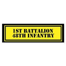 1st Battalion 48th Infantry Bumper Sticker