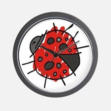 Crayon Lucky Ladybug Adoption Wall Clock