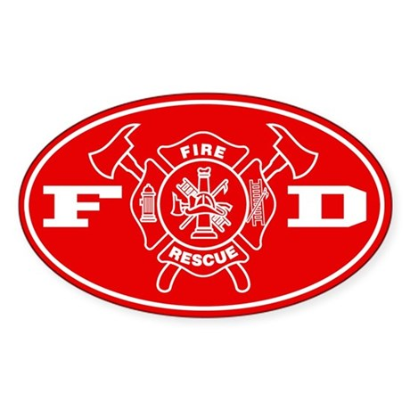 Fire Department - Sticker (Oval)