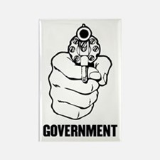 Government is Violence Rectangle Magnet