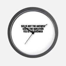 Cool Sex humor Wall Clock
