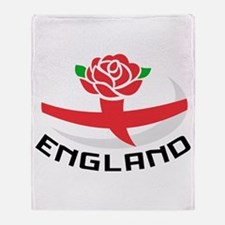 Rugby England Rose Throw Blanket