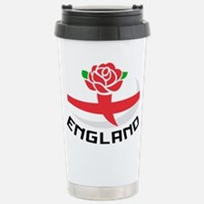 Rugby England Rose Stainless Steel Travel Mug
