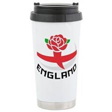 Rugby England Rose Travel Coffee Mug