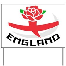 Rugby England Rose Yard Sign