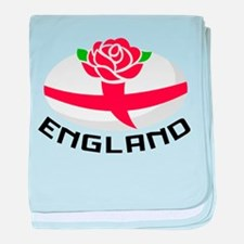 Rugby England Rose baby blanket