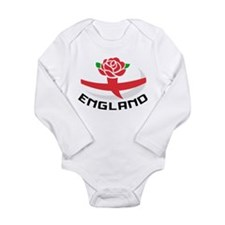 Rugby England Rose Long Sleeve Infant Bodysuit