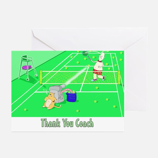 Thank you coach,tennis Cards (Pk of 20)