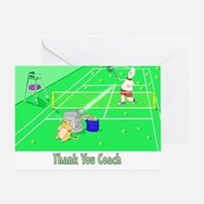 Thank you coach,tennis Greeting Card