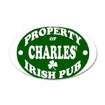 Charles' Irish Pub 38.5 x 24.5 Oval Wall Peel