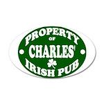 Charles' Irish Pub 22x14 Oval Wall Peel
