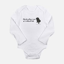 black lab gifts Long Sleeve Infant Bodysuit