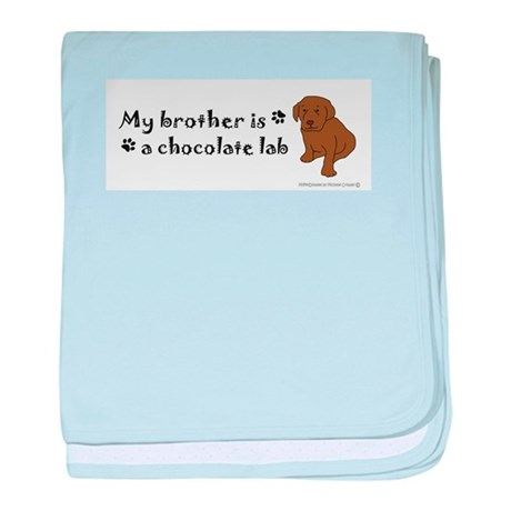 chocolate lab gifts baby blanket
